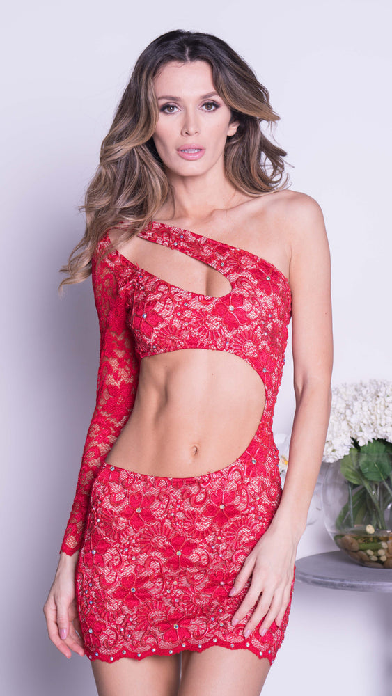 LOLA LACE  IN RED