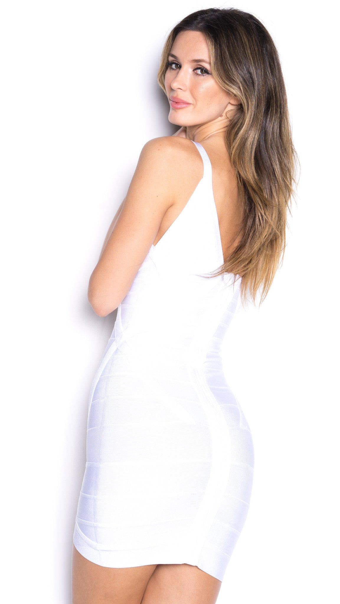 JADE BANDAGE DRESS IN WHITE
