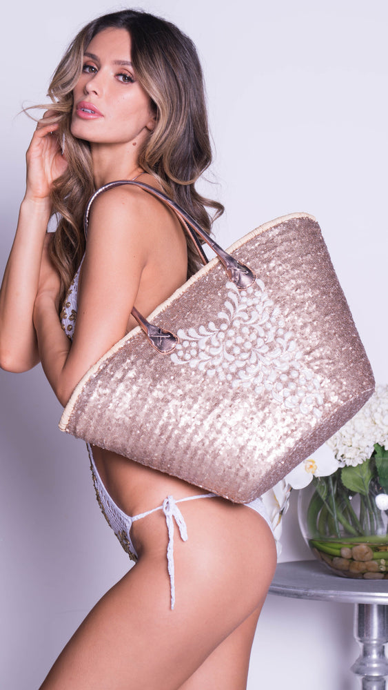 DOLCE SEQUIN BEACH BAG