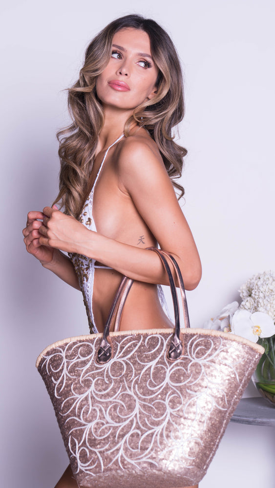 STACY SEQUIN BEACH BAG