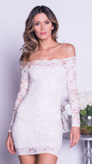 BRINKLEY LACE DRESS IN WHITE