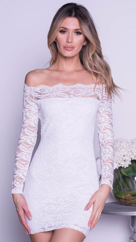 LAVIGNE LACE DRESS IN WHITE - 2 COLORS
