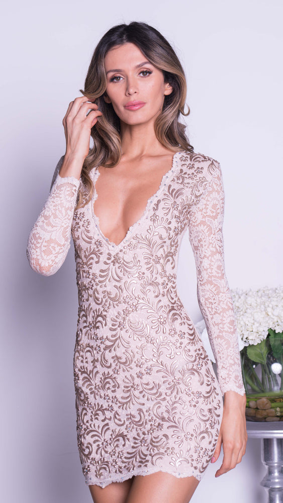 JENY LACE DRESS IN WHITE