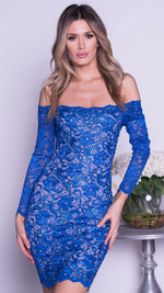 BRINKLEY LACE DRESS IN ROYAL BLUE