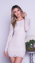 HEMDRIX LACE DRESS IN WHITE