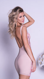 DORAY DRESS IN NUDE WITH BLUSH