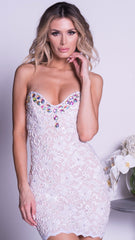 AMANDA LACE DRESS IN WHITE
