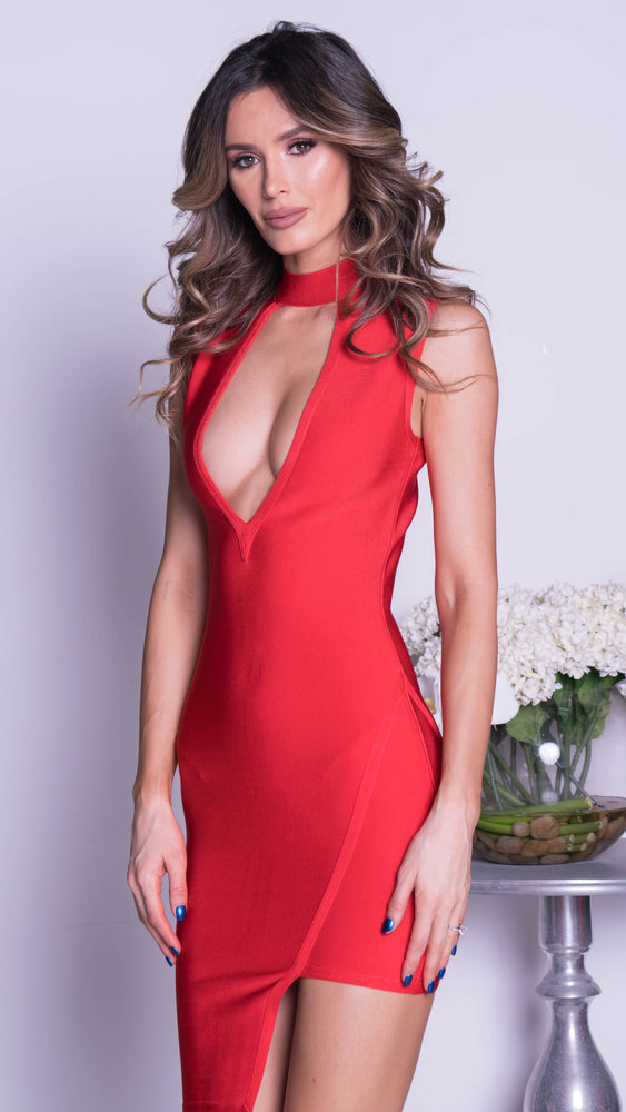 STELLA BANDAGE IN RED