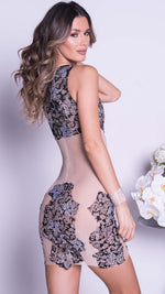 MANA LACE DRESS IN BLACK WITH CRYSTALS - MORE COLORS