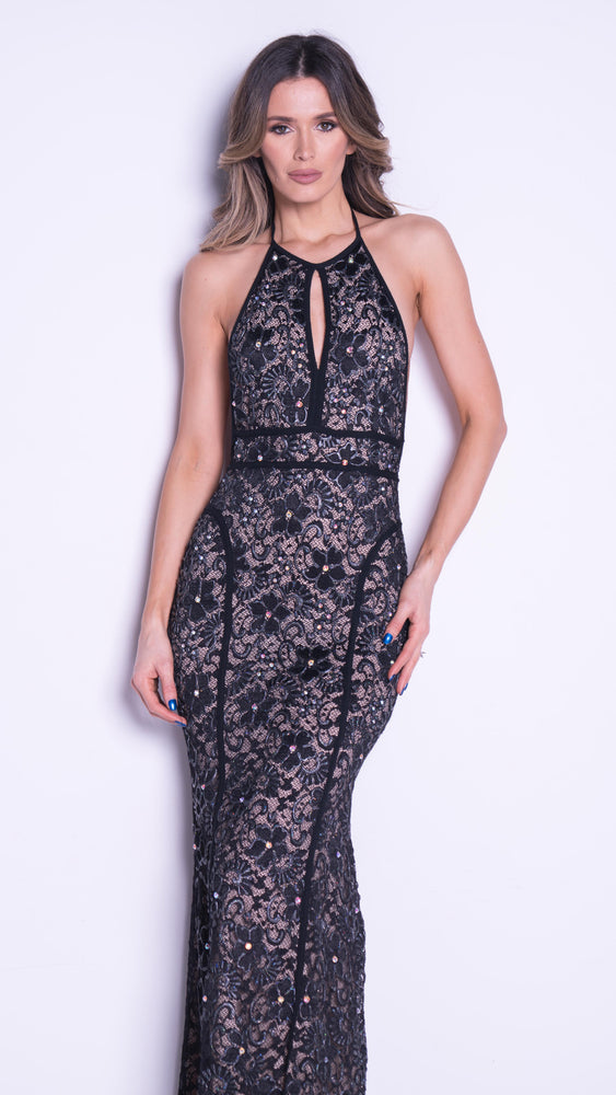 DAKOTA LACE GOWN IN BLACK