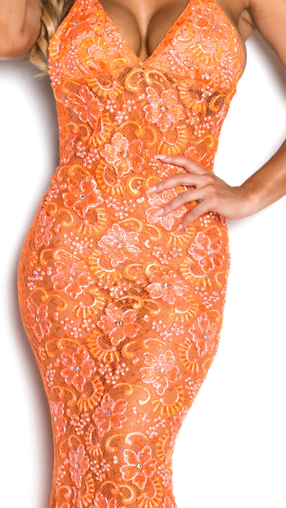 P21 GOWN IN ORANGE
