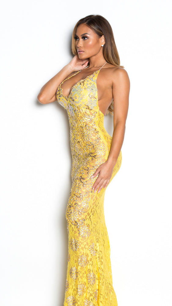 EMILY GOWN IN YELLOW
