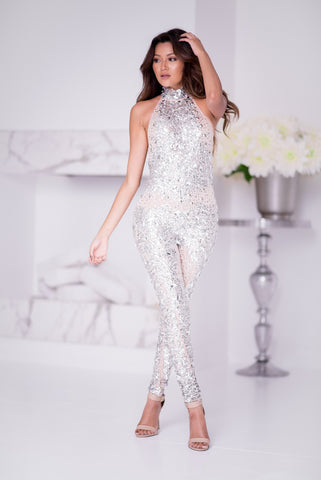 CABO JUMPSUIT WITH CRYSTALS