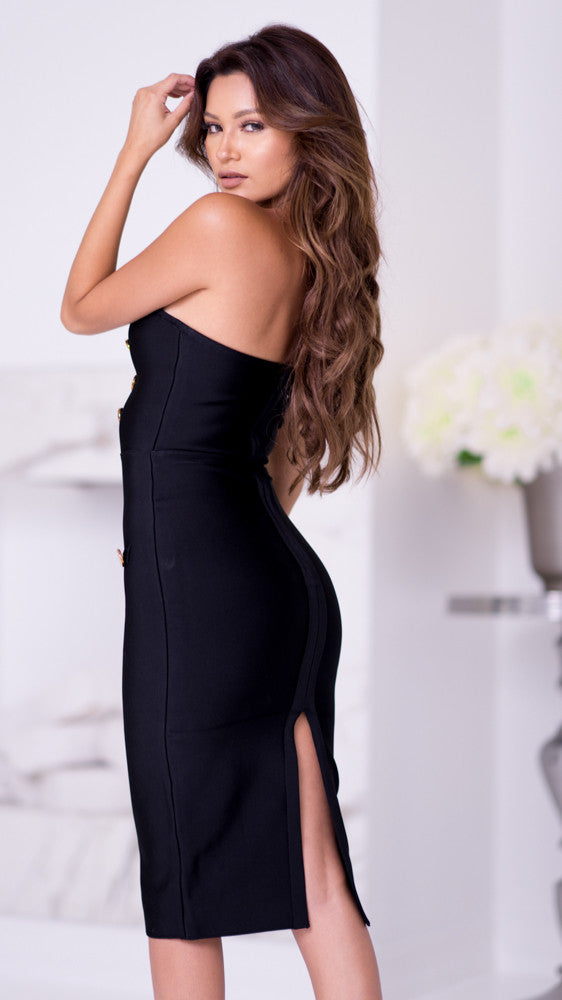 CHARLOTTE BANDAGE BUSTIER DRESS