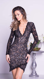 OHARA LACE DRESS IN BLACK
