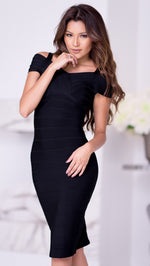 JAMIE BANDAGE DRESS IN BLACK