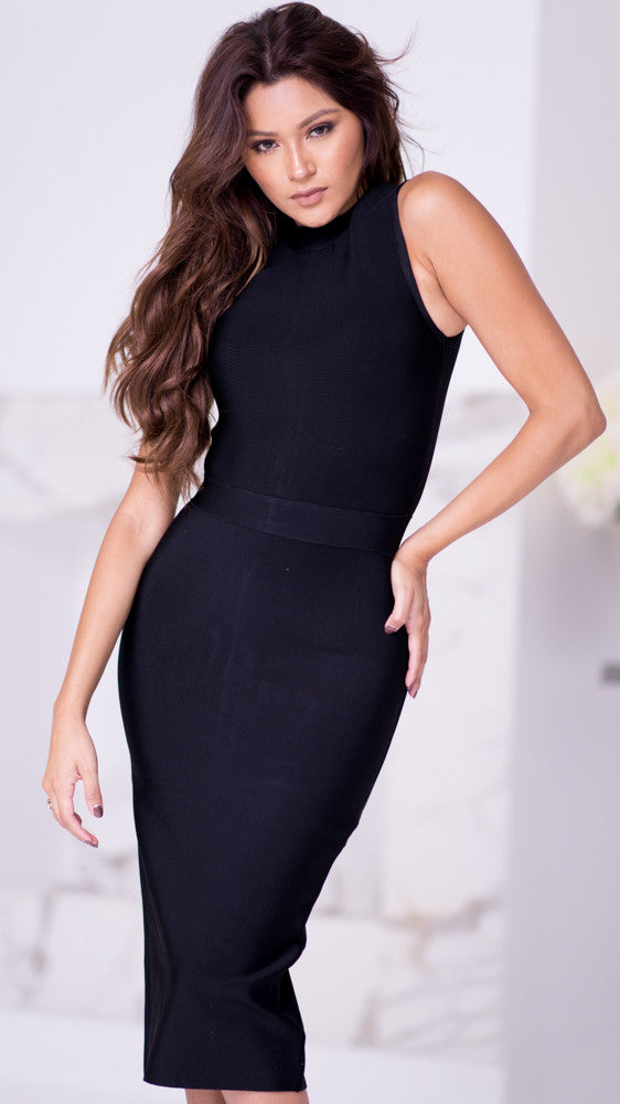 PRAGUE BANDAGE DRESS - 2 COLORS