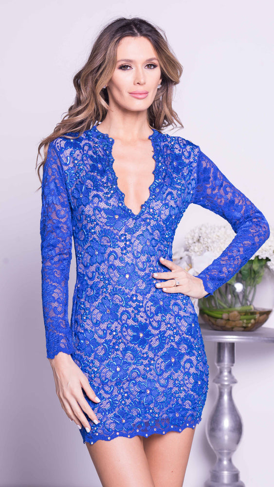 ALLINA LACE DRESS IN ROYAL BLUE