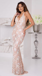 P21 FULL CRYSTAL GOWN IN NUDE