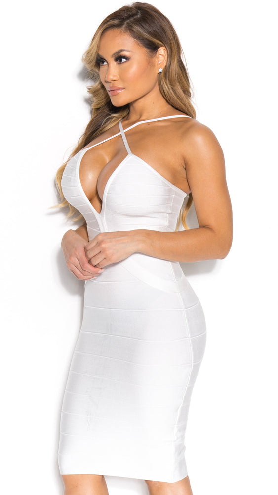 SIA BANDAGE DRESS IN WHITE