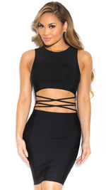 GRAVEN BANDAGE DRESS IN BLACK