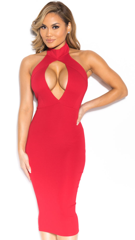 ROBYN DRESS IN RED