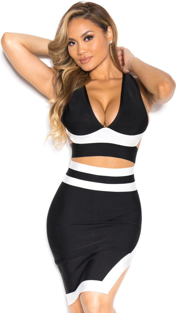 ELLA BANDAGE SET IN BLACK
