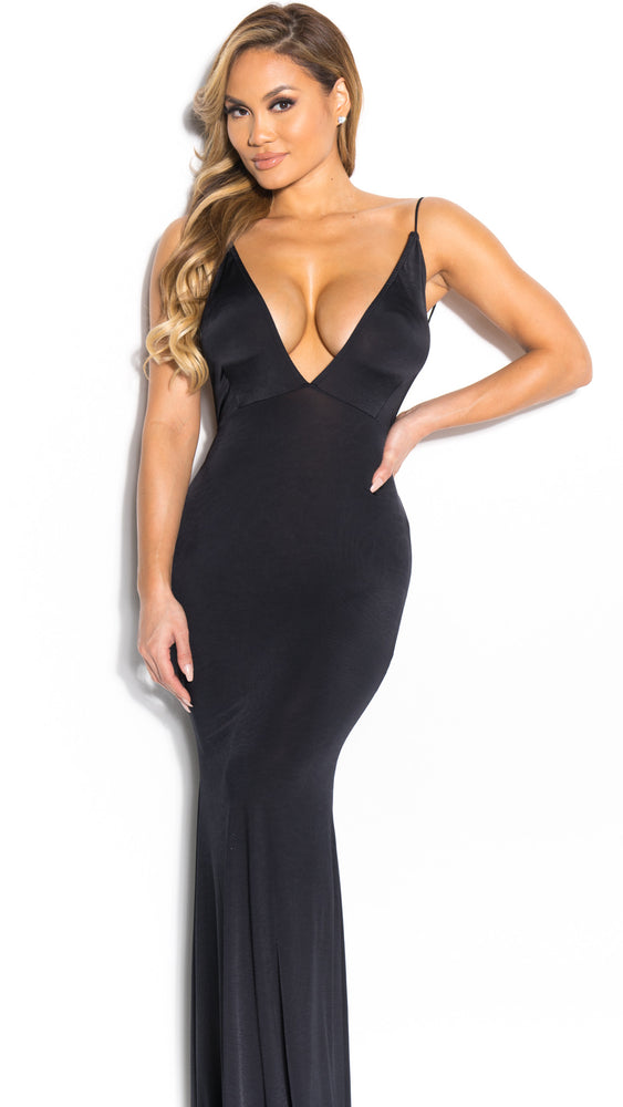 MONROE GOWN IN BLACK