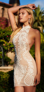 POLINE DRESS IN BEIGE