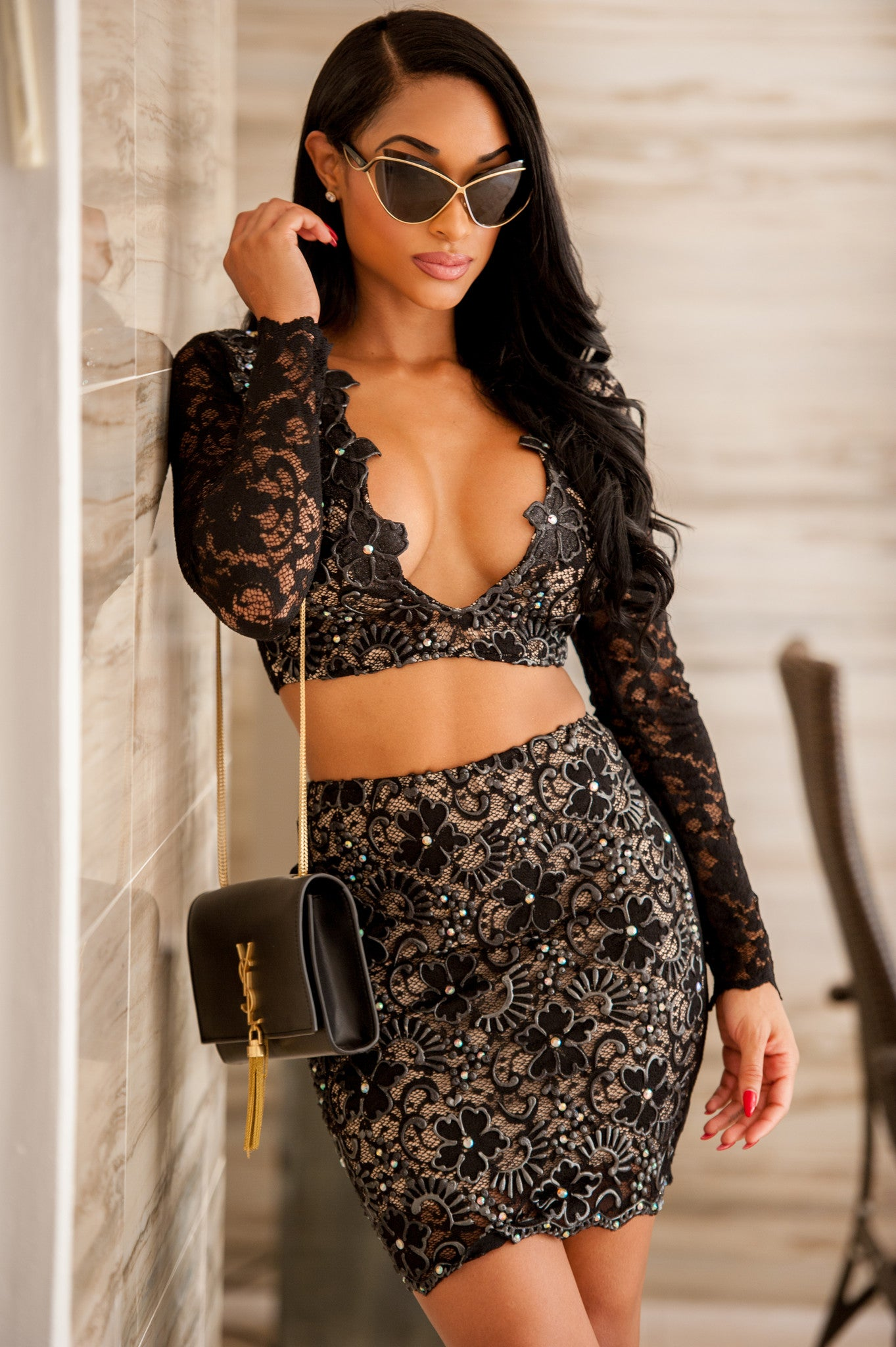 MELI TWO PIECE SET IN BLACK