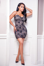 DONNA LACE DRESS N BLACK