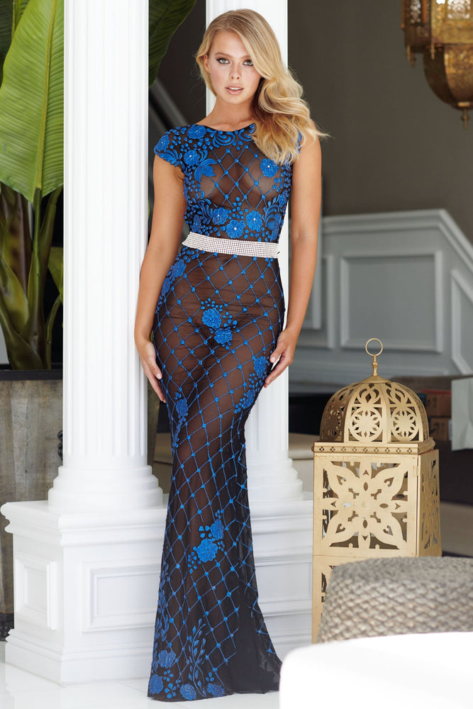 MOKAI GOWN IN NAVY