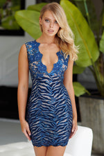 MINA LACE DRESS IN NAVY - 5 COLORS