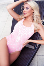BARBIE DREAM HOUSE BODYSUIT IN PINK