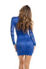 PHILOMENA LACE DRESS IN BLUE