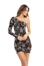 ISLA BLACK DRESS WITH CRYSTALS