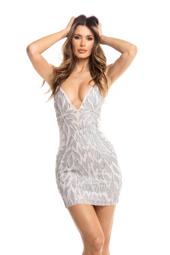 ZAYLEE DRESS IN SILVER
