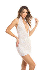 MARIAN LACE DRESS IN WHITE