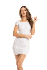 PALMS DRESS IN WHITE