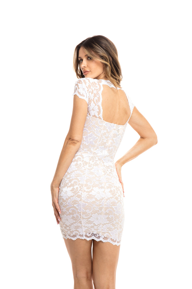 RUTH LACE DRESS IN WHITE