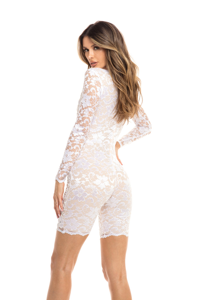 ANDREA LACE ROMPER IN WHITE