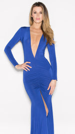CLIO GOWN IN ROYAL BLUE