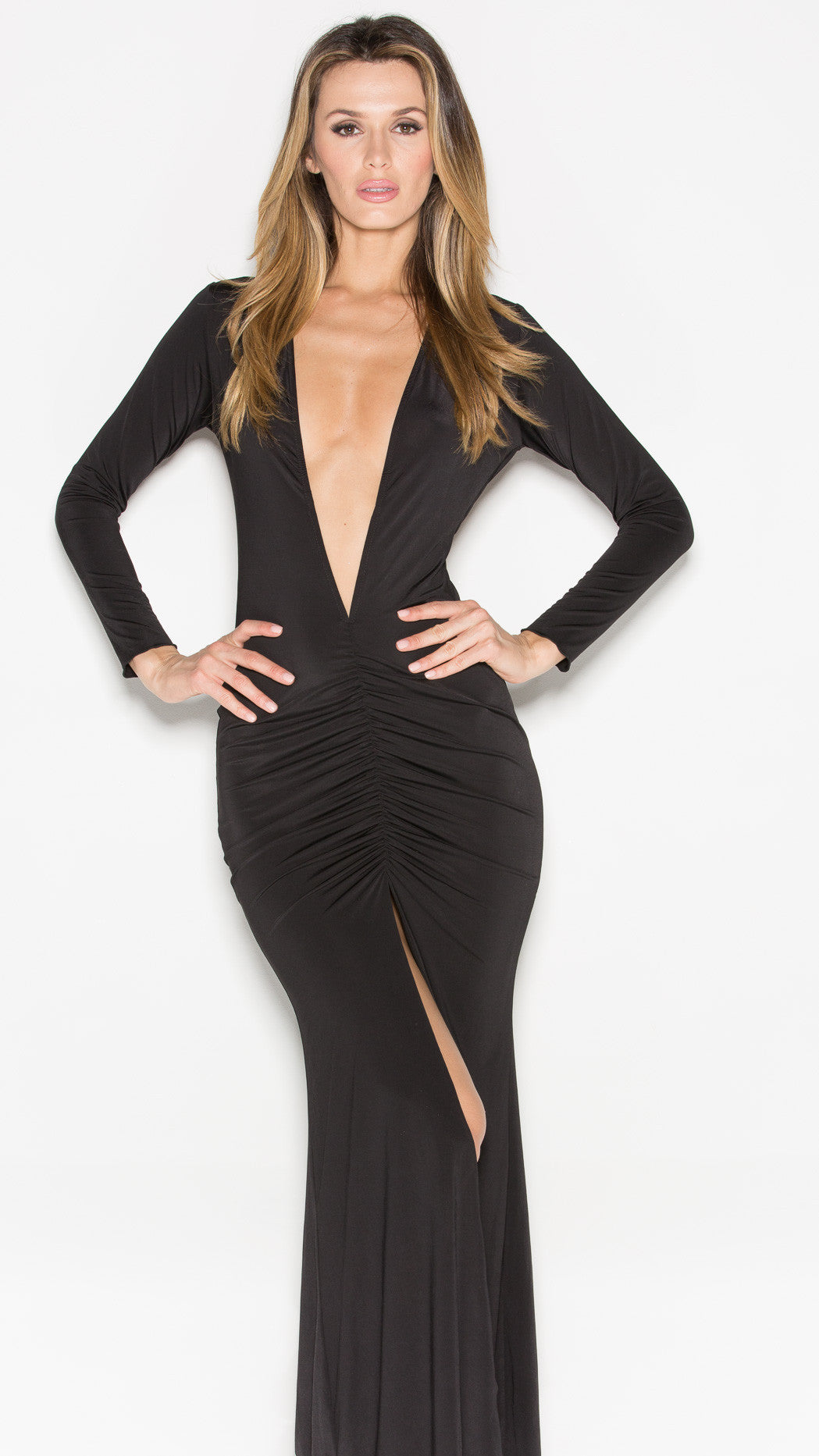 CLIO GOWN IN BLACK