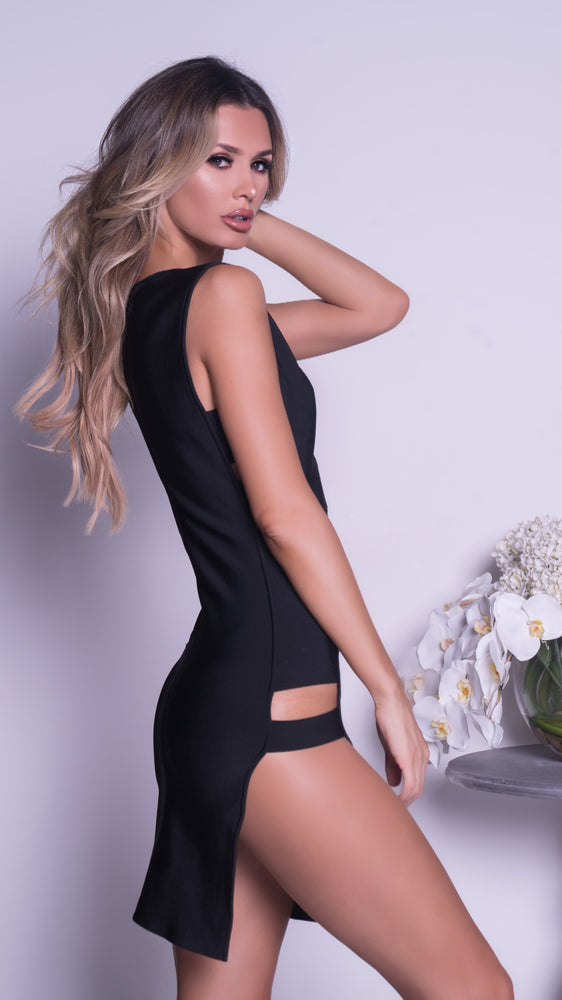 MOORE BANDAGE DRESS IN BLACK - 2 COLORS