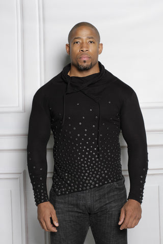 PAGANI LONG SLEEVE SHIRT BLACK ON BLACK