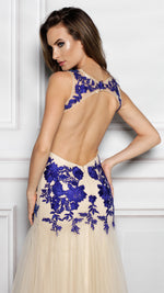 RAYNA IN NUDE WITH ROYAL BLUE