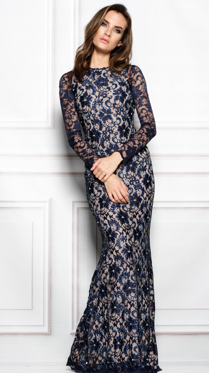 RACHEL GOWN IN NAVY