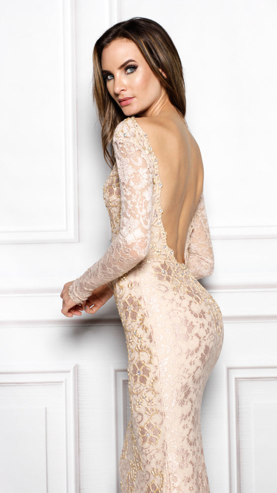 rachel gown in nude