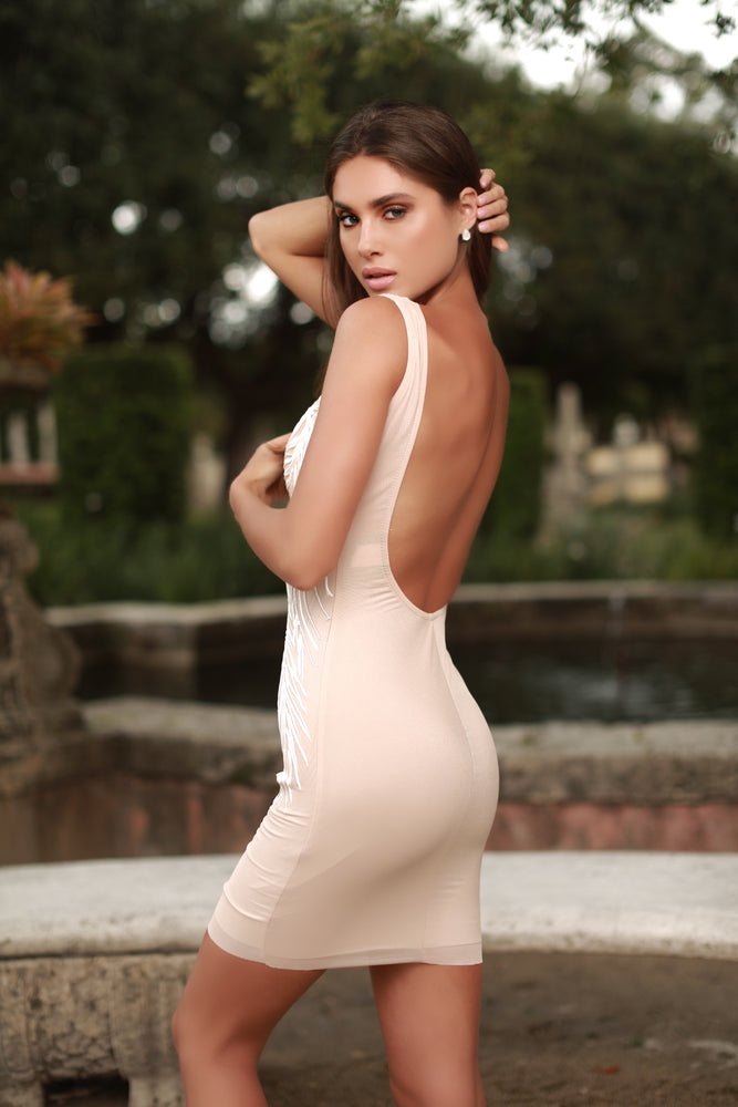 BOSNATE OPEN BACK DRESS