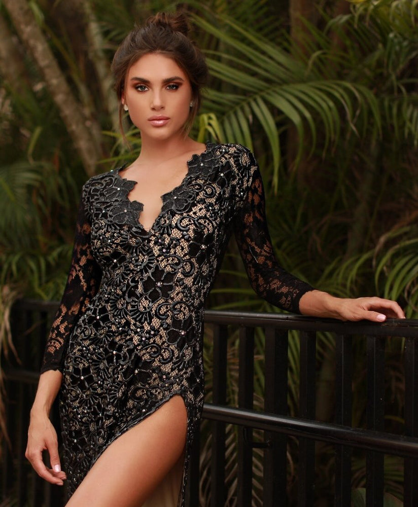 ELIAV LACE DRESS IN BLACK - 15 COLORS